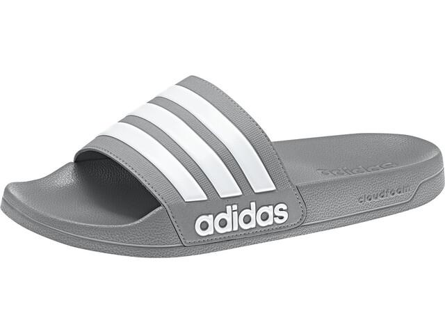 adidas Adilette Shower Sandalias Hombre, grey three/footwear white/grey three